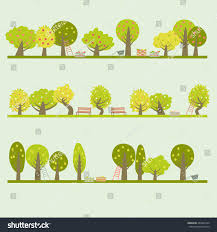 Different Garden Fruit Trees  Handdrawn Doodles Vector Different Fruit Trees
