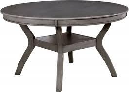 juniper gray round dining room set