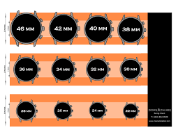 Watch Band Size Chart Watch Size Chart Watches Watch Bands Chart