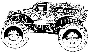 Small Picture Batman Monster Truck Coloring Pages Monster Jam Coloring Monster