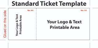Show Ticket Template Simple Sample For Event Ticket Template Using Easy And Standard