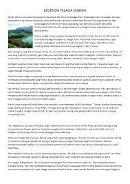 Asal Usul Telaga Warna Dalam Bahasa Jawa Ide Perpaduan Warna