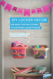 even ziploc is ready for back to school season take a look at these fancy spray painted magnetic ziploc organizers for your locker ziploc