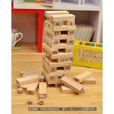 Games With Wooden Blocks Simple Stacko Wooden Stacking Block Game Wooden Fold High Wooden Toy Jenga