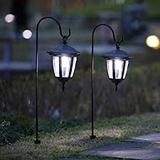 hanging solar patio lights. Maggift 26 Inch Hanging Solar Lights Dual Use Shepherd Hook With 2 Hooks Outdoor Coach Lights, Pack Patio