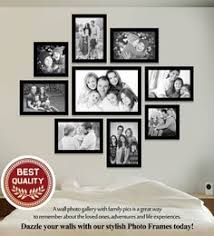 multiple picture frames wood. Black Synthetic Wood 44 X 1 50 Inch Wall Collage Photo Frames Multiple Picture