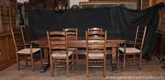 Farmhouse Kitchen Furniture Farmhouse Kitchen Dining Set Refectory Table Set Ladderback Chairs