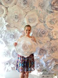 White Paper Flower Wall Paper Flower Wall Custom Listing All White Paper By Itheedecor