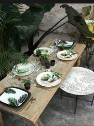 décoration de table jungle tropicale à table | נσℓιє ναιѕѕєℓℓє ...