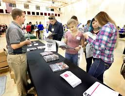 high school juniors take la crosse career expo by storm local career expo