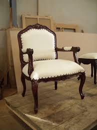 wonderful classy white bonded faux leather upholstery bedroom chairs with nail head back and bedroom chairs