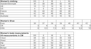 Size Chart Ewa I Walla Dressing Online Shop For