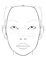 blank face chart for makeup artists