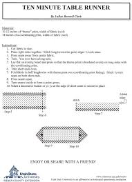 10 Minute Table Runner Pattern