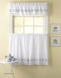 shabby chic curtain rods elegant leighton crochet trim kitchen curtains curtainworks