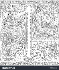 Number 1 One Adult Coloring Book Stock Vector 415515916 Shutterstock