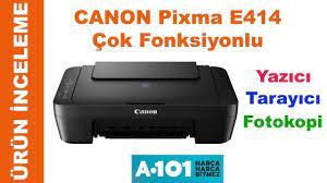 Canon Pixma E414 Yazıcı Tarayıcı Fotokopi Ürün İnceleme - YouTube