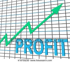 Chart Showing Increase Profit Chart Graph Shows Increase Cash Wealth Revenue