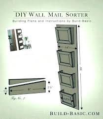 mail organizer wall mount ing plns wl diy canada