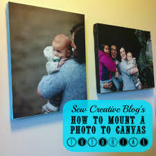 how to mount a photo to canvas tutorial a great handmade gift for under 5
