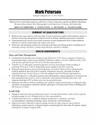 Medical Salespsume Template Sample Entry Level Pharmaceutical