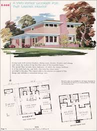 mid century house plans. Unique Century Mid Century Modern House Plans  1955 National Plan Service  No  E608 Midcentury  And I