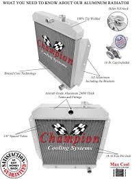 1955 1956 1957 1958 1959 Chevy Pickup Aluminum Radiator ...