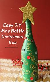 How To Decorate A Wine Bottle For Christmas Easy DIY Wine Bottle Christmas Tree 25