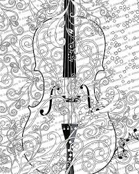 Small Picture Printable Coloring Poster Adult Coloring Page FREE Violin