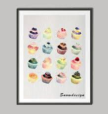original watercolor cupcake canvas painting modern wall art poster print pictures home decoration wall hanging sticker gifts in painting calligraphy from  on cupcake canvas print wall art with original watercolor cupcake canvas painting modern wall art poster