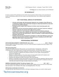 Human Resource Sample Resume Powerful Human Resources Resume