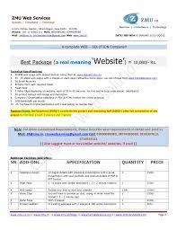 Cotation Sample Static Website Quotation