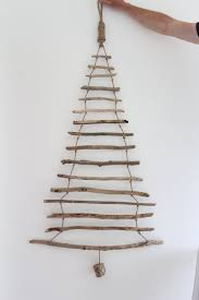 wooden christmas tree wall art