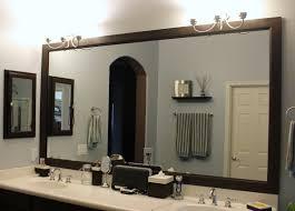 Diy Bathroom Mirror Diy How To Frame A Bathroom Mirror Stick On Bathroom Mirror Frame
