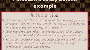 persuasive essay outline example