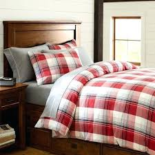 plaid duvet covers red