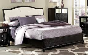 white upholstered beds. Homelegance Jacqueline Upholstered Bed - Faux Alligator/Black White Beds