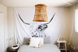 diy rattan pendant light of a basket via closetvomit com