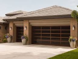 walnut garage doorsAll Glass Garage Doors