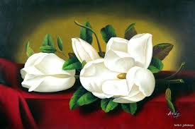 magnolia flower painting southern magnolia flower painting white magnolia flowers buds fl large oil painting magnolia