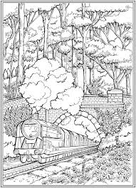 Train crossing bridge coloring page. Welcome To Dover Publications Train Coloring Pages Coloring Pages Creative Haven Coloring Books