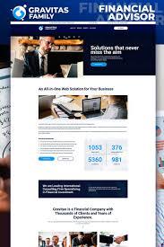 Best Financial Services Website Design Gravitas Financial Advisor Motocms 3 Landing Page Template