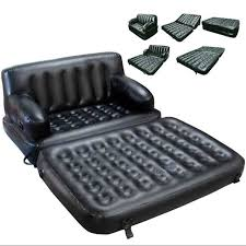 5 in 1 double inflatable air bed sofa