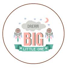 "Modern Cross Stitch Patterns Inspiration Modern Cross Stitch Pattern ""Dream Big Little One"" Inspirational"