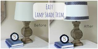easy peasy lamp shade ribbon trim