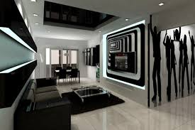 modern living room black and white. Black And White 2 Living Room With Modern Plans 17