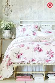 shabby bedding sets this rose bedding set from simply shabby chic will have you dreaming of fragrant flower gardens the elegant pattern is detailed with