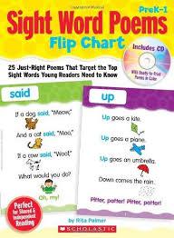 Sight Word Poems Flip Chart Prek 1 25