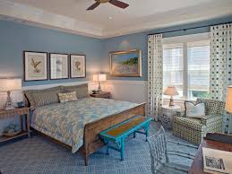 Rustic Master Bedroom Beach Inspired Rustic Master Bedroom Desgin With Blue Wall
