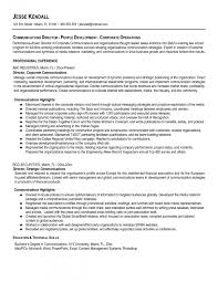 Communication Resume Examples Resumes Marketing Objectives Corporate